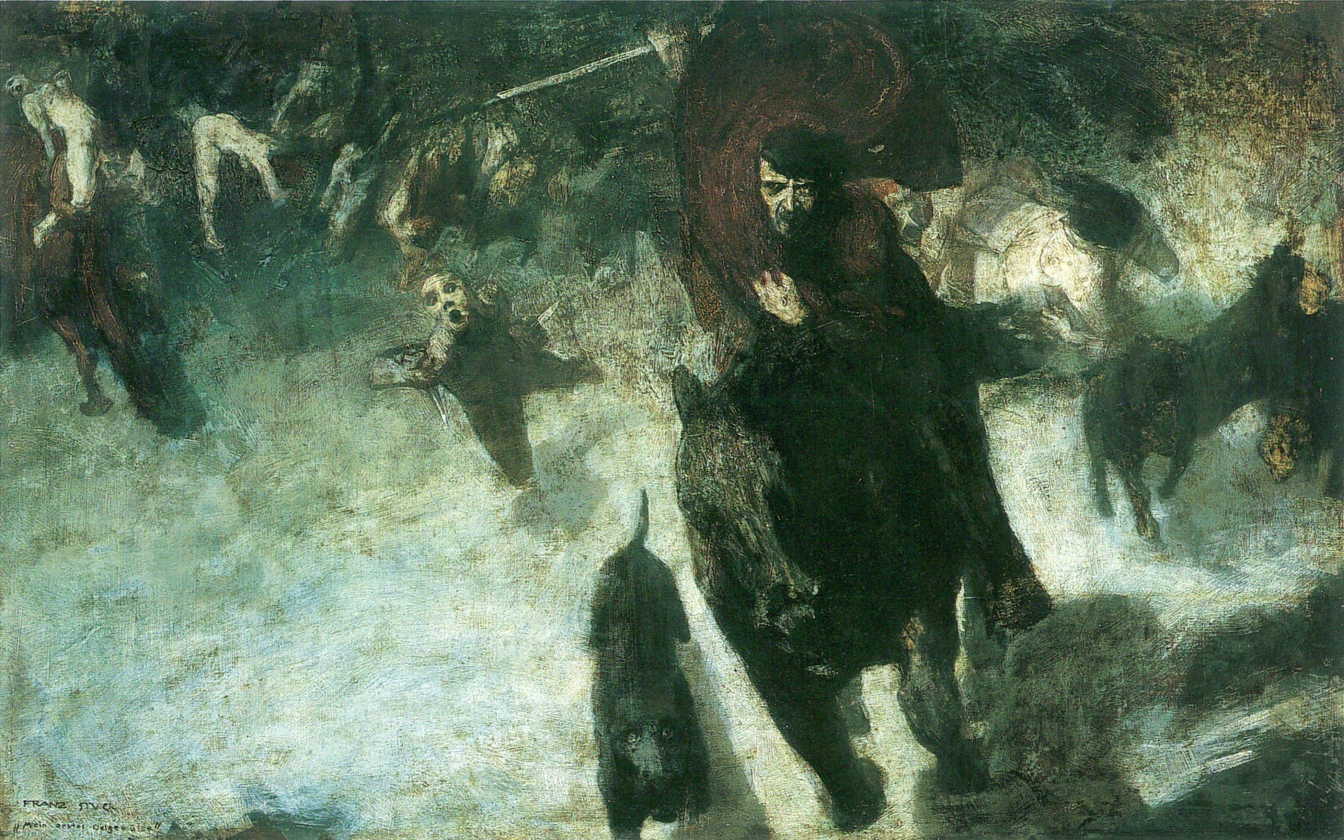 Араун король підземного царства Аннун Дикий Мисливець епос Мабіноґіон.jpg